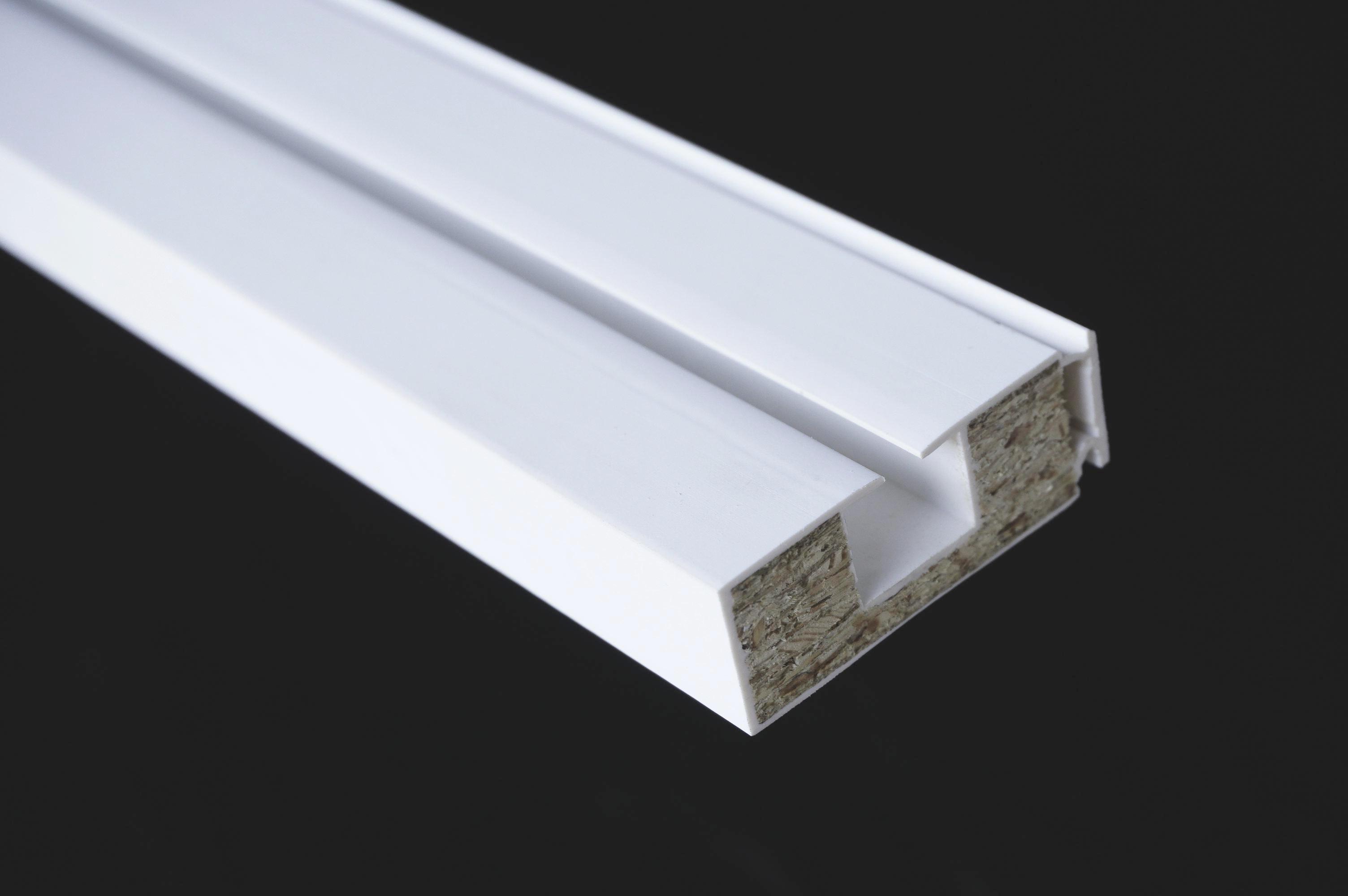 Függönysín Ge - fehér, műanyag/fa (150cm)