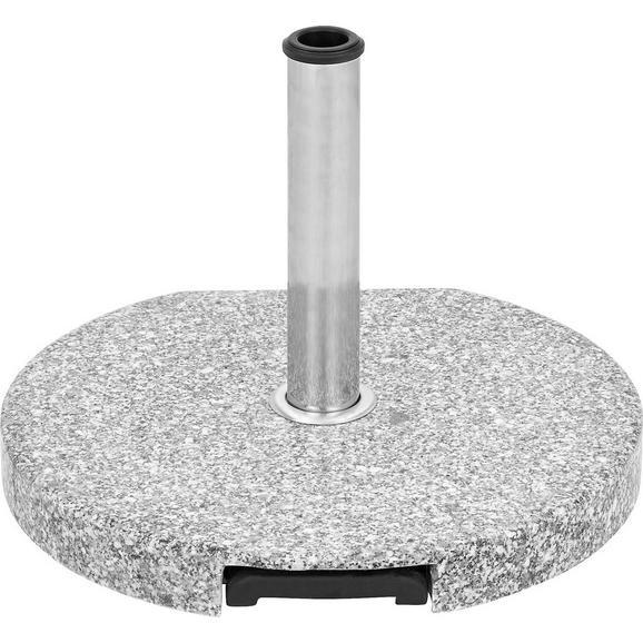 Sonnenschirmständer Lorenz aus Granit - Hellgrau/Schwarz, Keramik/Kunststoff (50/6/50cm) - Mömax modern living