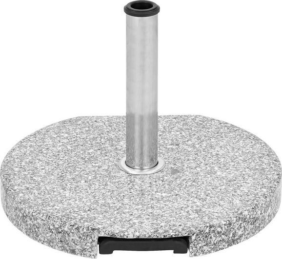 Sonnenschirmständer Lorenz in Grau - Hellgrau/Schwarz, Keramik/Kunststoff (50/6/50cm) - MÖMAX modern living