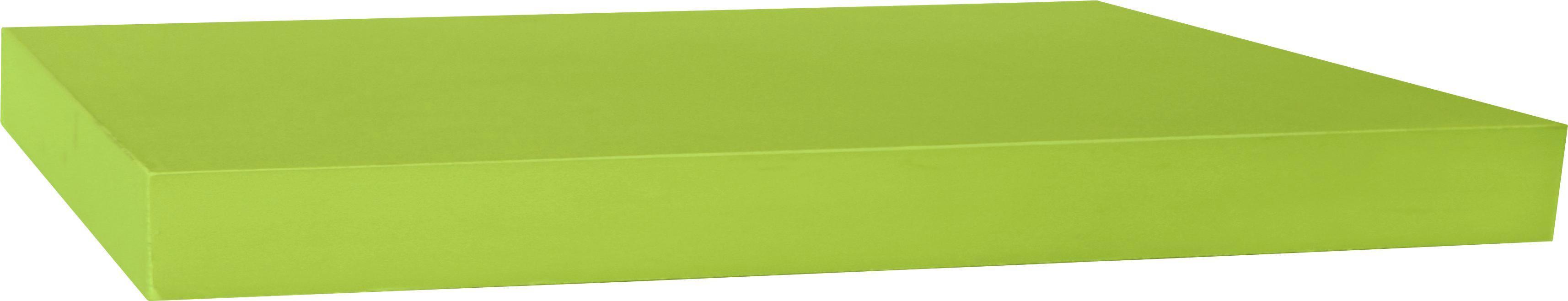 Falipolc Simple - zöld, modern, műanyag/faanyagok (80/3,8/23,5cm)