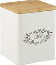 Box mit Deckel Lore Weiß Echtholz - Weiß, ROMANTIK / LANDHAUS, Holz/Metall (14/14/16cm) - Zandiara