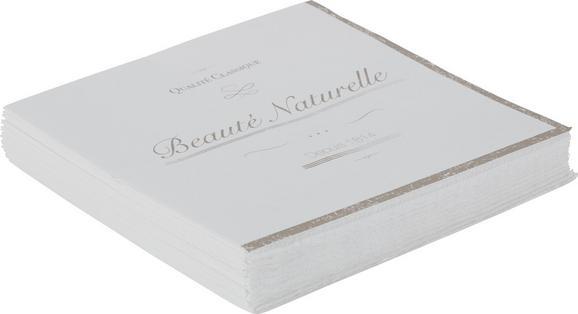 Serviette Naturelle aus Papier in Weiß - Weiß, ROMANTIK / LANDHAUS, Papier (16,5/16,5/2,5cm) - Mömax modern living