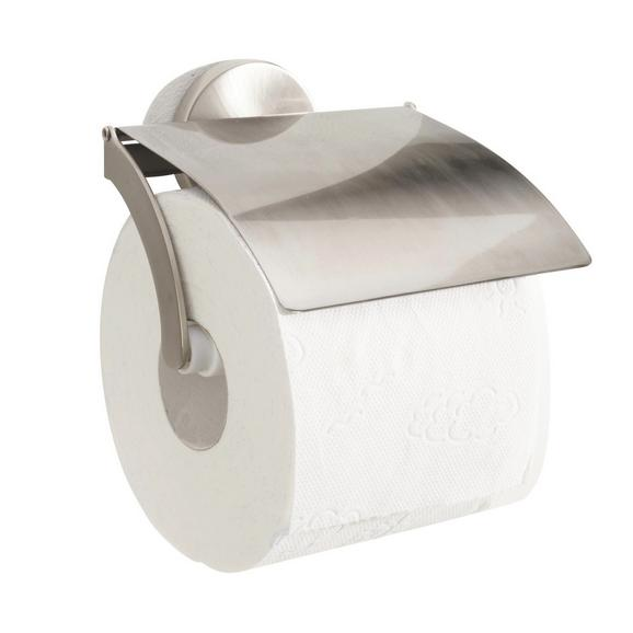 Toilettenpapierhalter Edelstahlfarben - Edelstahlfarben, Metall (13,5/13/10cm) - Fackelmann