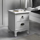 Nachtkästchen Lewis Vintage - Weiß, MODERN, Holz/Metall (34/45/34cm) - Modern Living