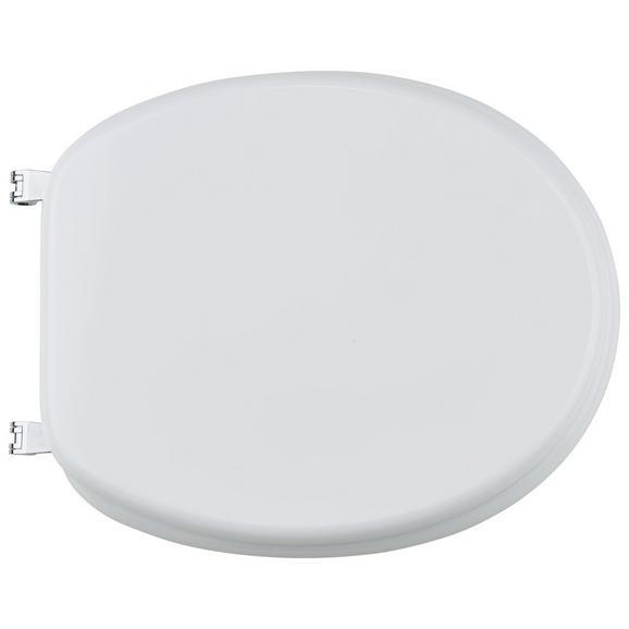 Capac Wc Cu Amortizare - Alb, plastic (46/38/6cm)