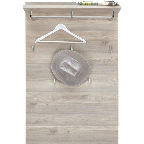 Garderobenpaneel in silbereiche online kaufen m max for Garderobenpaneel modern