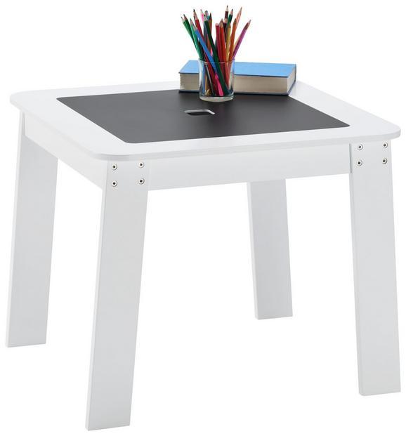Kindertisch in Weiß/Schwarz - Schwarz/Weiß, Holzwerkstoff (60/50,8/60cm) - MÖMAX modern living