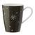 Kaffeebecher aus Porzellan 30 ml ''X-Mas'' - Weiß/Grau, KONVENTIONELL, Keramik - Vivo
