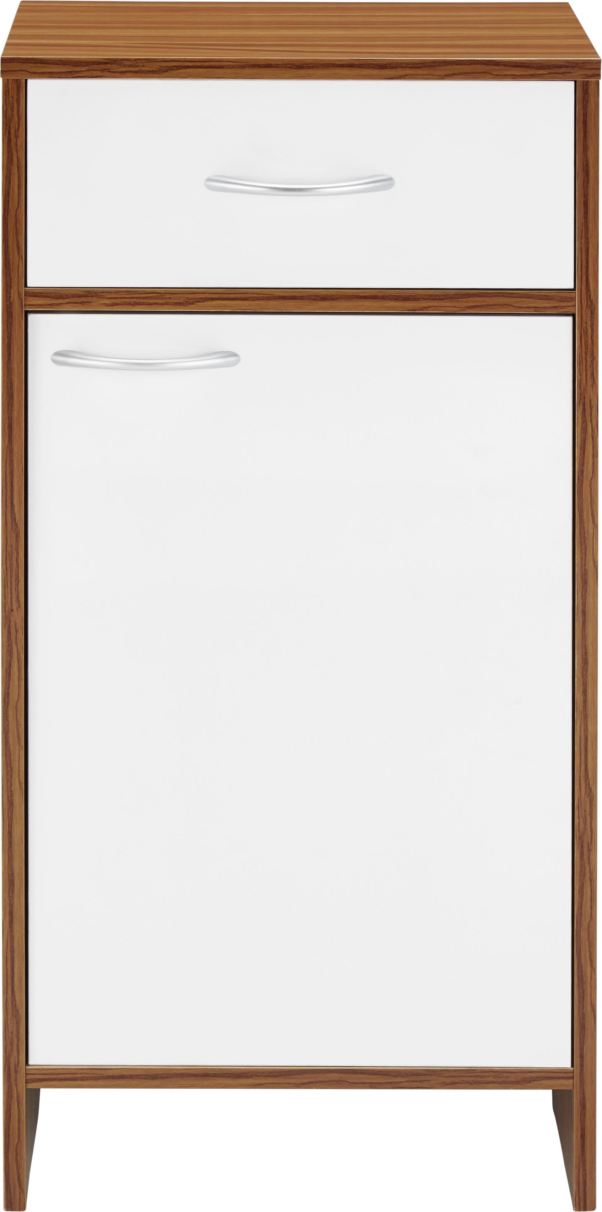 Badezimmerunterschrank Milano - Braun/Weiß, MODERN, Holz/Kunststoff (40/80/30cm) - MÖMAX modern living