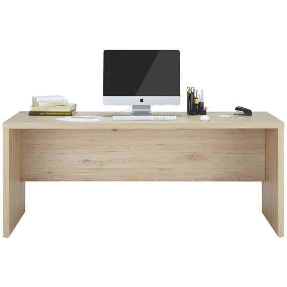 Pisalna Miza Schema Sanremo - hrast sonoma, Moderno, leseni material (180,0/74,2/69,0cm) - Mömax modern living