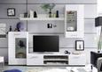 Dnevni Regal Shot - bela/srebrna, Moderno, umetna masa/steklo (230/200/38cm) - Mömax modern living