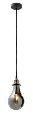 Pendelleuchte Luciana - Messingfarben/Grau, MODERN, Glas (13.5/129.5cm) - Modern Living