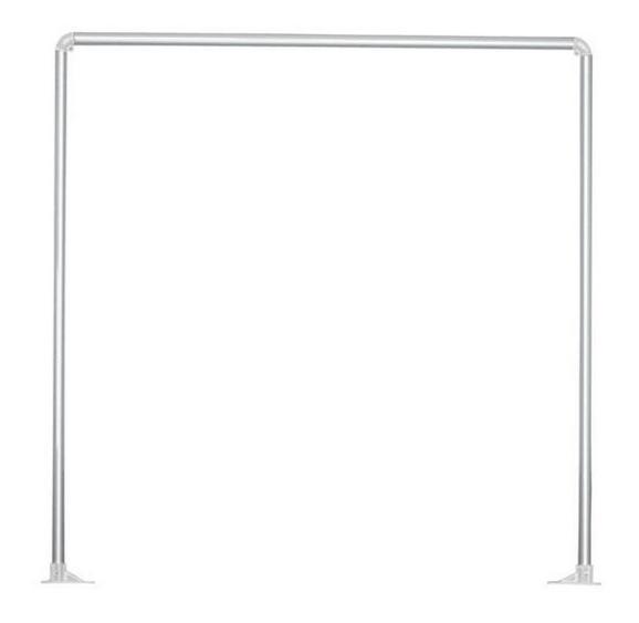 Duschvorhangstange Hilde Silberfarben - Silberfarben, Metall (91cm)