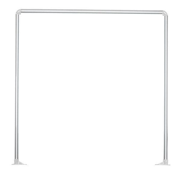 Zuhanyfüggöny Rúd Hilde - ezüst színű, konvencionális, fém (91cm)