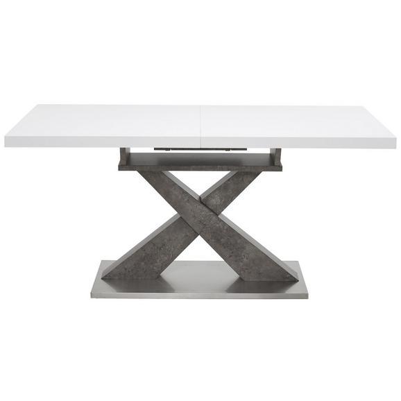 Jedilna Miza Hagen - siva/bela, Moderno, kovina/leseni material (160-200/76/90cm) - Modern Living