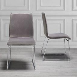 Stuhl Vinzenz - Grau, MODERN, Textil/Metall (46/89/53cm) - MÖMAX modern living