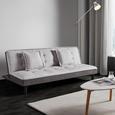 Schlafsofa Babette inkl. Kissen - Hellgrau/Schwarz, MODERN, Kunststoff/Textil (183/70/82cm) - Bessagi Home