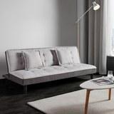 Sofa mit Schlaffunktion in Grau 'Babette' - Hellgrau/Schwarz, MODERN, Kunststoff/Textil (183/70/82cm) - Bessagi Home