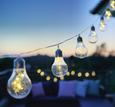 Solarleuchte Rico Max. 0,75 Watt - Transparent/Silberfarben, Kunststoff (380cm) - Modern Living