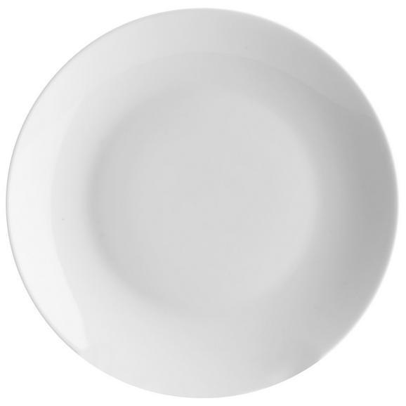 Dessertteller Nancy Ø ca. 19,2cm - Weiß, MODERN, Keramik (19,2/2cm) - Mömax modern living