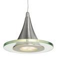 LED-Hängeleuchte max. 5 Watt 'Ranarp' - Klar, MODERN, Glas/Kunststoff (50/15/150cm) - Bessagi Home