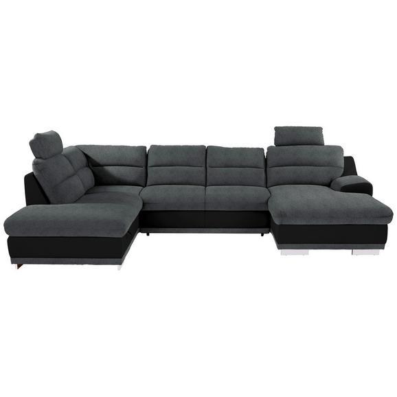 Sedežna Garnitura Seaside - siva/črna, Konvencionalno, kovina/tekstil (218/334/165cm) - Premium Living