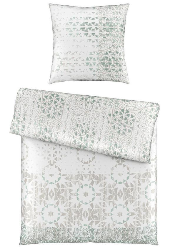 Bettwäsche Zara in Grau, ca. 135x200cm - Blau/Grau, LIFESTYLE, Textil (135/200cm) - MÖMAX modern living