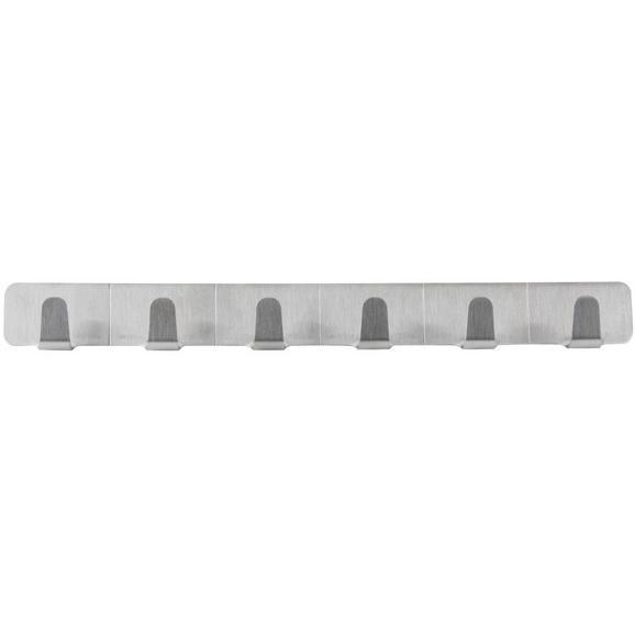Hakenleiste Edelstahlfarben - Edelstahlfarben, Metall (24/3/2cm)