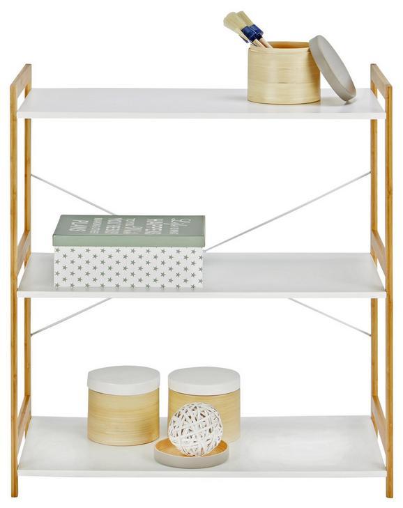 Regal Mato 3 - naravna/bela, Moderno, kovina/leseni material (70/78/35cm) - Mömax modern living