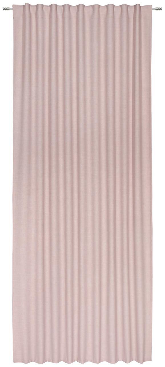 Fertigvorhang Leo in Rosa, ca. 135x255cm - Rosa, Textil (135/255cm) - Premium Living