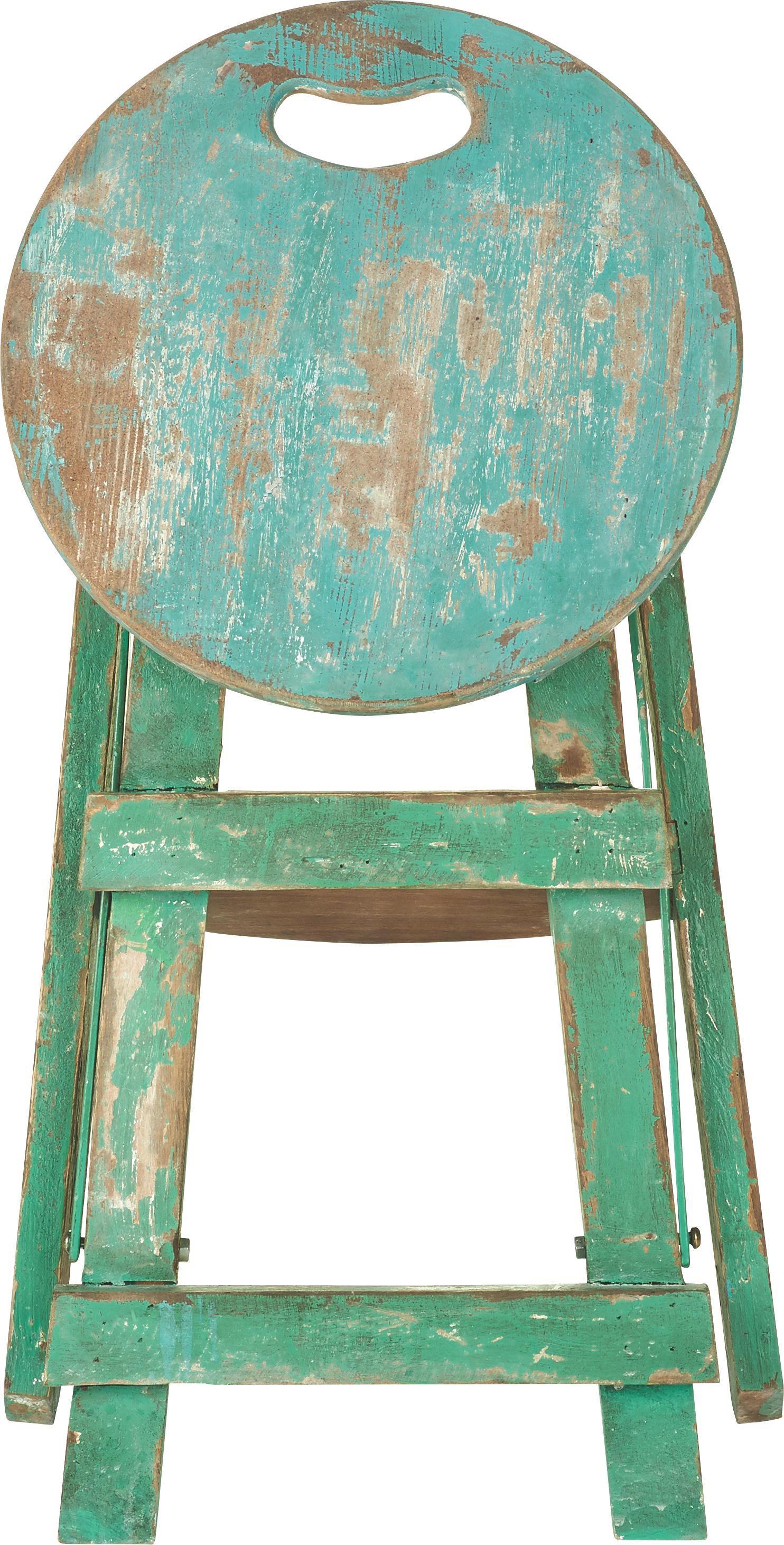 ÖSSZECSUKHATÓ ÜLŐKE STEP  -SB- - világoszöld/kék, Lifestyle, fa/faanyagok (30/30/43cm) - premium living