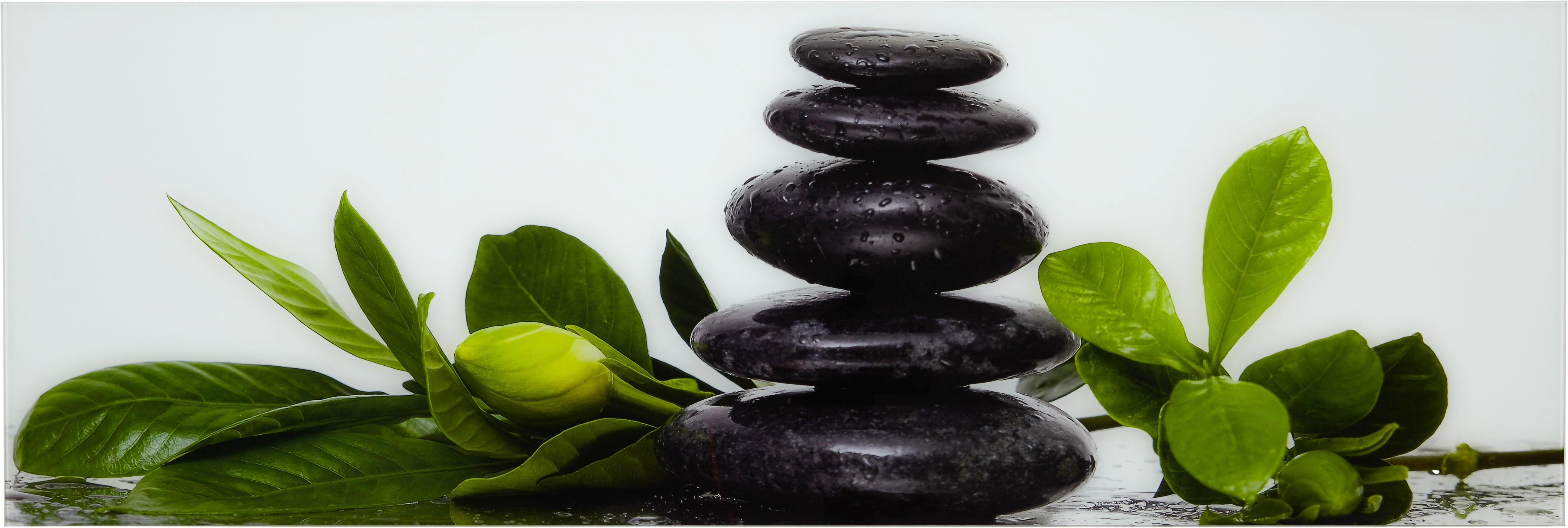 Glasbild Fresh Gardenia, ca. 33x98x2cm - Multicolor, MODERN, Glas (33/98/2cm) - MÖMAX modern living