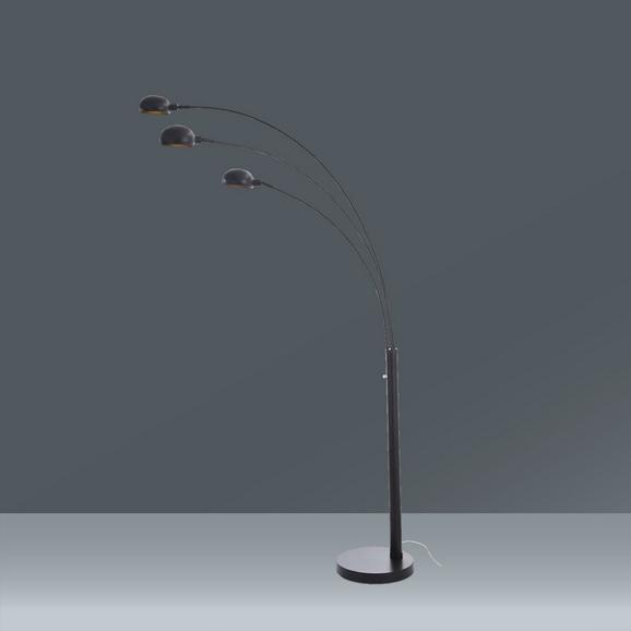 Stoječa Svetilka Dorian - črna, Trendi, kovina (110/210cm) - Premium Living