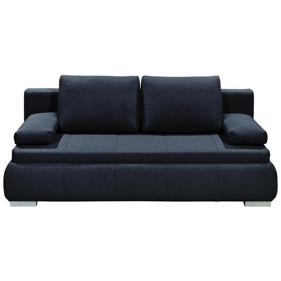 Sofa mit Schlaffunktion in Grau 'Norman LUX.3DL' - Silberfarben/Grau, KONVENTIONELL, Holzwerkstoff/Kunststoff (208/95/105cm) - Livetastic