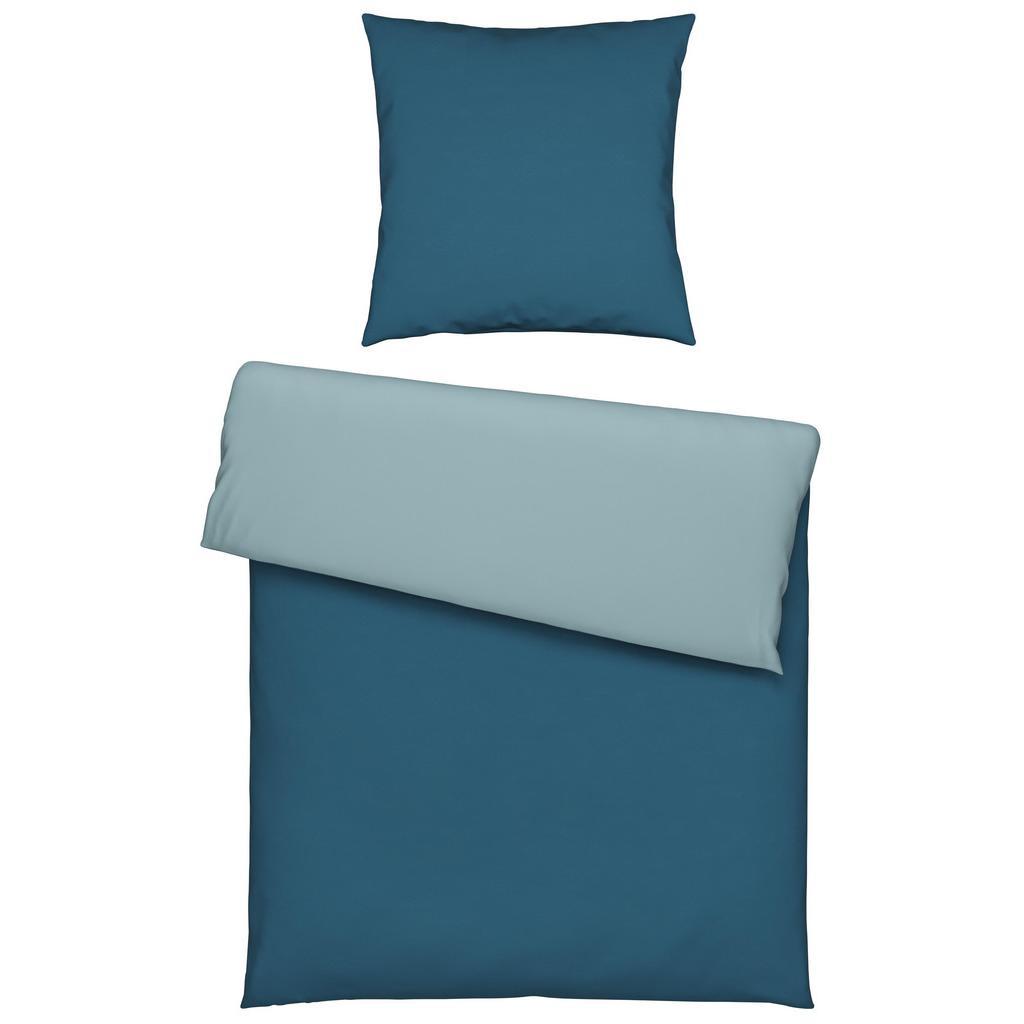 Bettwäsche Belinda in Blau ca. 155x220cm