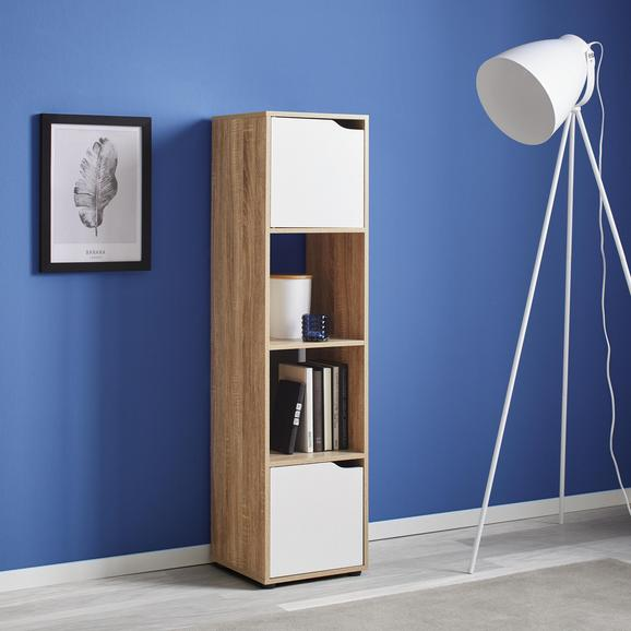 Regal Lilja - Eichefarben/Weiß, MODERN, Holz/Holzwerkstoff (30/120/29,5cm) - Mömax modern living