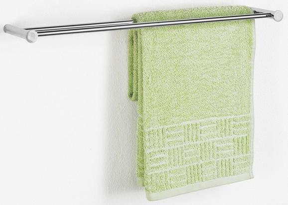 Handtuchhalter Chromfarben - Chromfarben, Metall (53,8/2/10,5cm) - Mömax modern living