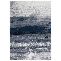 Webteppich Topas ca. 133x190cm - Blau/Hellgrau, MODERN (133/190cm)