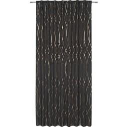 Verdunkelungsvorhang Glamour, Ca. 140x245cm   Schwarz/Kupferfarben,  LIFESTYLE, Textil (140