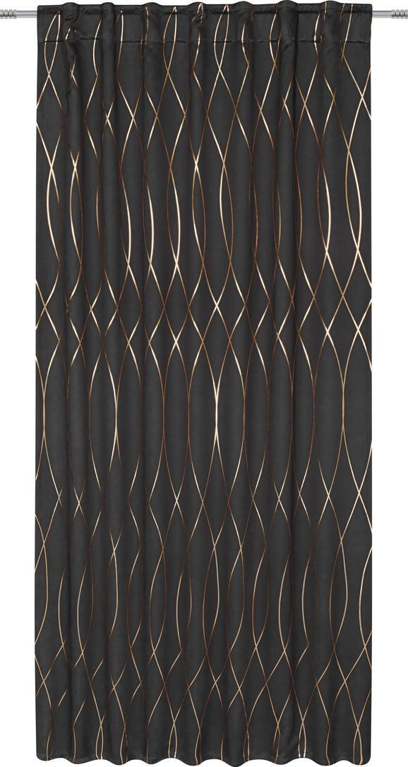 Verdunkelungsvorhang Glamour, ca. 140x245cm - Schwarz/Kupferfarben, LIFESTYLE, Textil (140/245cm) - Mömax modern living