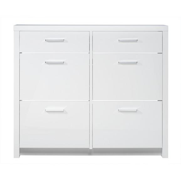 Omara Za Čevlje Space - bela/krom, umetna masa/leseni material (121,4/106,4/28cm) - Mömax modern living