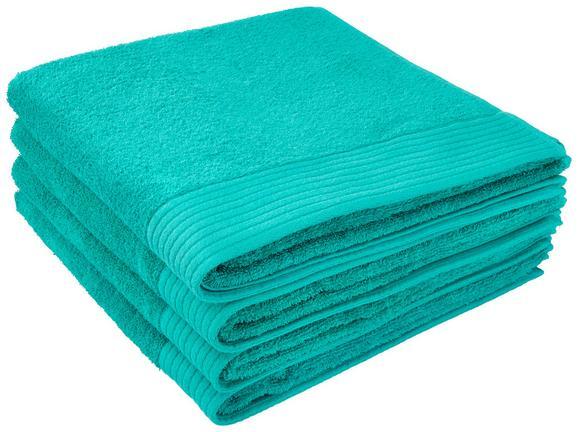 Duschtuch Dolly 70x140cm - Türkis, KONVENTIONELL, Textil (70/140cm) - MÖMAX modern living