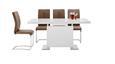 Esstisch Weiß/chrom Hochglanz - Chromfarben/Weiß, MODERN, Holzwerkstoff/Metall (160-200/76/90cm) - Premium Living
