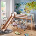 Hochbett Toby - Klar, MODERN, Holz (207/218/110cm) - Bessagi Kids