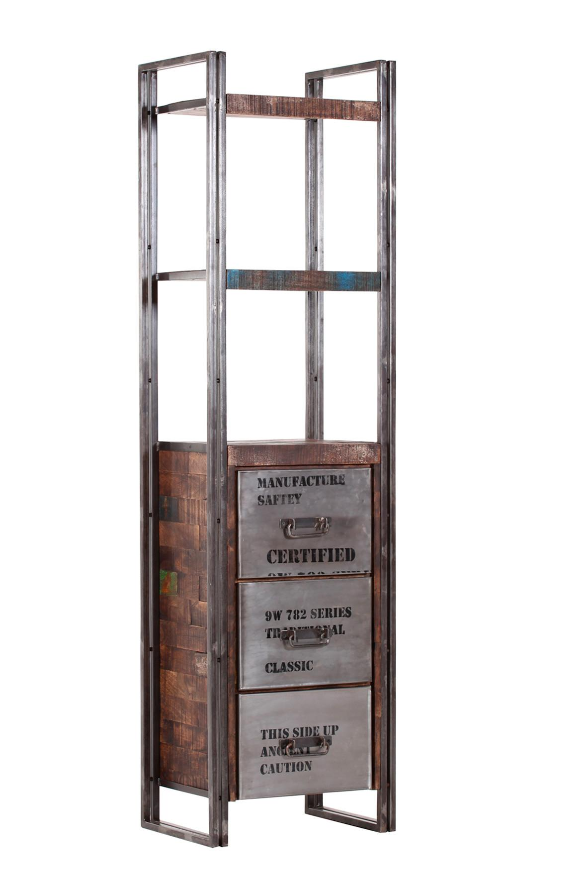 Regal aus Metall in Antik - LIFESTYLE, Holz/Metall (55/200/40cm) - PREMIUM LIVING