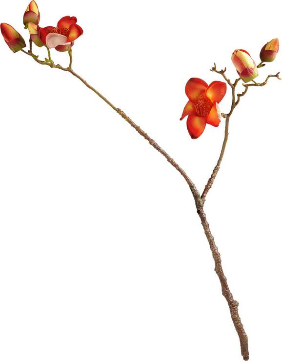 Dekozweig Ella in Orange/rot - Orange/Braun, Kunststoff (100cm)
