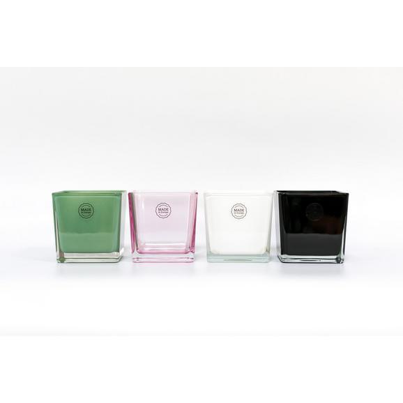 DRŽALO ZA ČAJNO SVEČKO NORA -TOP- - roza/črna, steklo (10/10/10cm) - Mömax modern living
