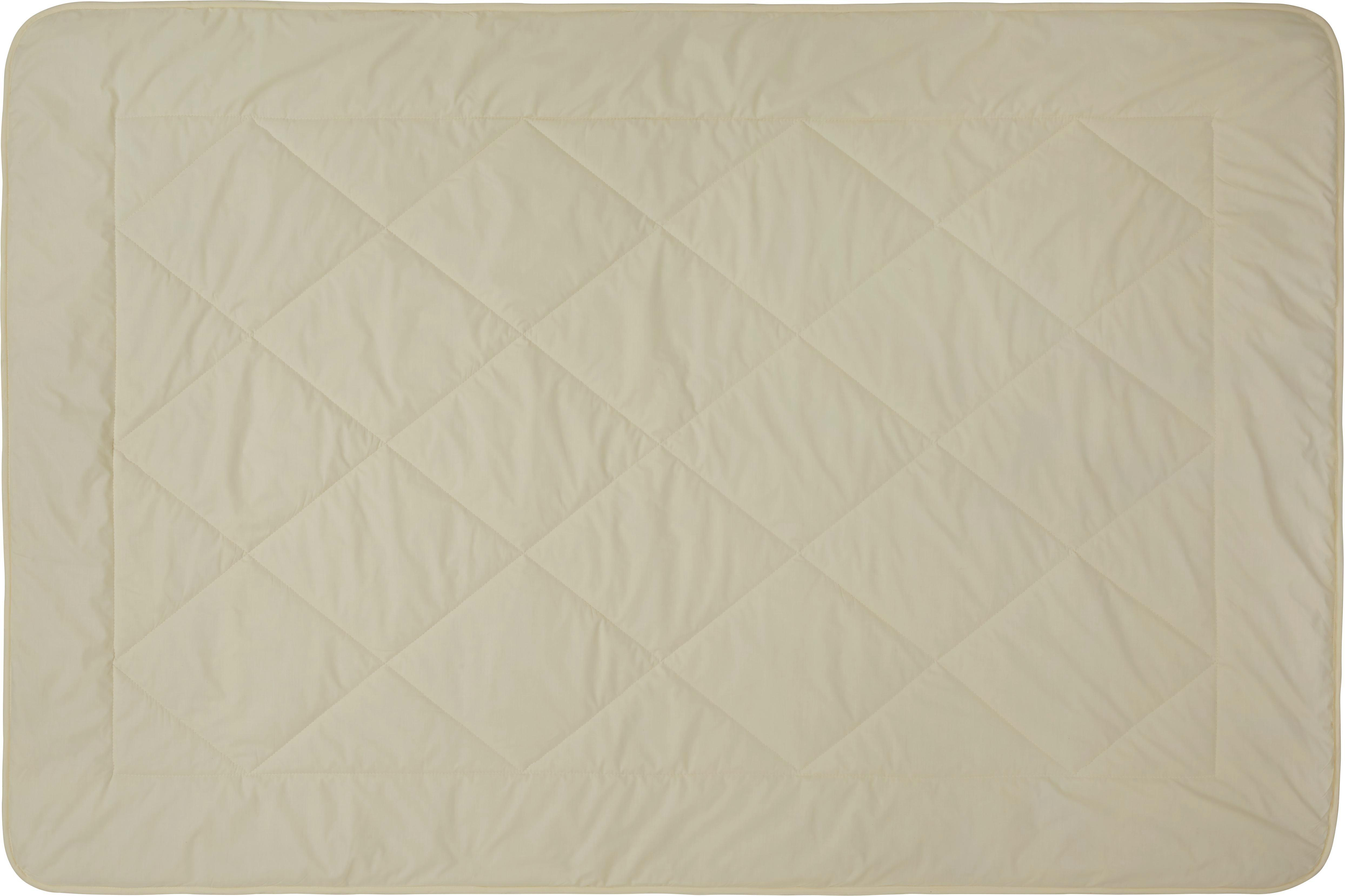 Steppbett Schaffwoll, ca. 135x200cm - Weiß, Textil (135/200cm) - NADANA