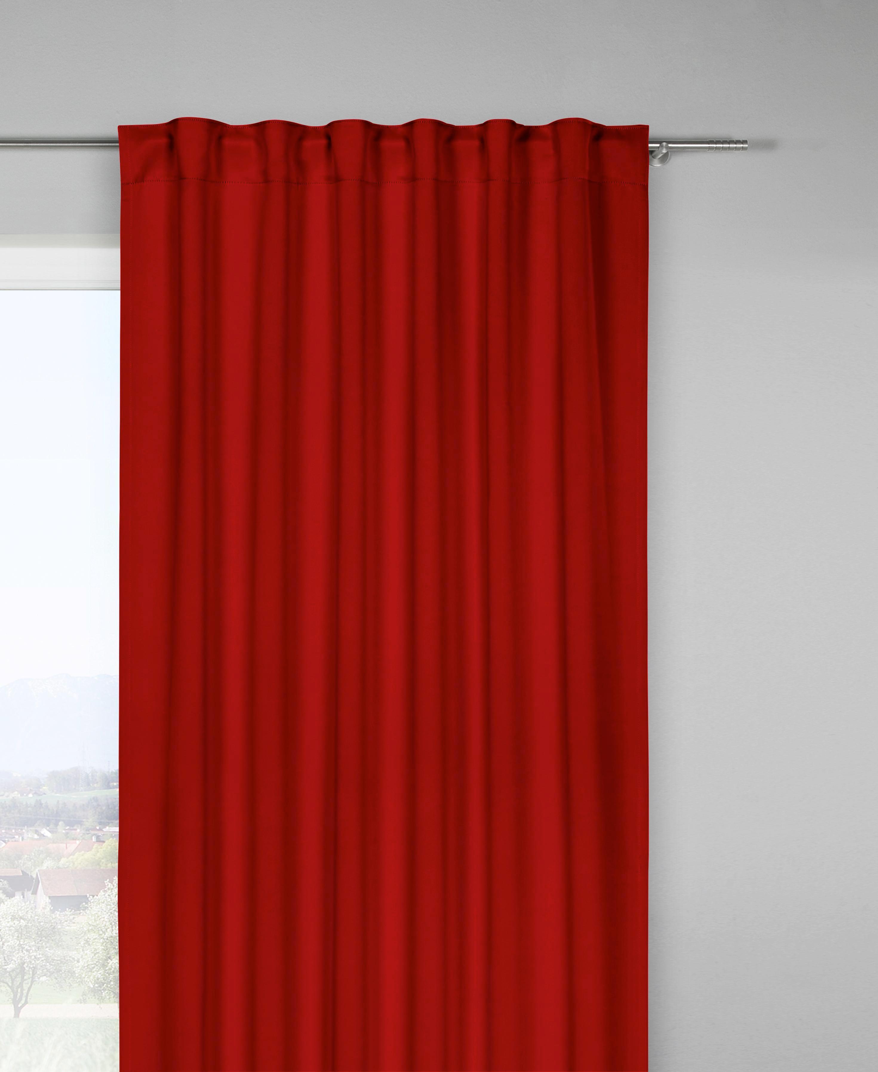 Verdunkelungsvorhang Riccardo in Rot, ca. 140/245cm - Rot, MODERN, Textil (140/245cm) - MÖMAX modern living