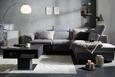 Wohnlandschaft Anthrazit/Hellgrau - Anthrazit/Hellgrau, KONVENTIONELL, Textil (270/226cm) - Premium Living